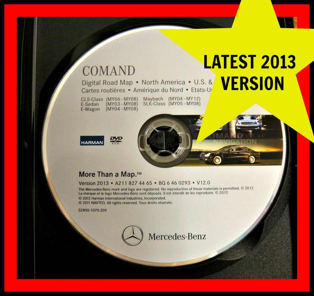 mercedes benz onboard navigation system map update dvd